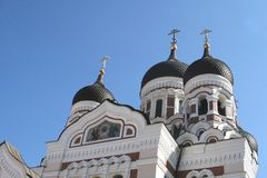Religious Alexander Nevsky cathedral, Tallinn Stock Photography