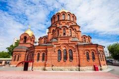 Alexander Nevsky Cathedral Novosibirsk Arkivbild