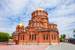 Alexander Nevsky Cathedral, Novosibirsk. Alexander Nevsky Cathedral is the Orthodox Cathedral in Novosibirsk, Russia. Named in honor of Saint Alexander Nevsky royalty free stock image