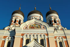 The Alexander Nevsky Cathedral, an orthodox cathedral in the Tallinn Old Town, Estonia Royalty Free Stock Photo