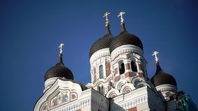 Alexander Nevsky Cathedral is an orthodox cathedral in Tallinn Old Town, Estonia. It was built to design by Mikhail stock footage