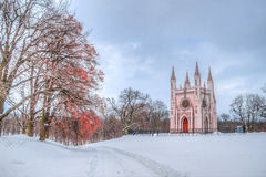 Alexander Nevsky Cathedral Peterhof Russia winter Stock Photos