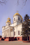 Alexander Nevsky Cathedral in Simferopol city. Alexander Nevsky Cathedral was destroyed on the night of 26 to 27 September 1930. Now Alexander Nevsky Cathedral Royalty Free Stock Images