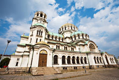 Alexander Nevsky cathedral Sofia. Side view of svety Alexander Nevsky cathedral in Sofia Stock Image