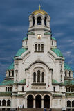 Alexander Nevsky Cathedral in Sofia. Alexander Nevsky Cathedral and monument in Sofia, Bulgaria Royalty Free Stock Images