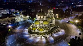 Alexander Nevsky Cathedral in Sofia stock images