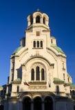 Alexander Nevsky cathedral in Sofia, Bulgaria. Alexander Nevski cathedral in Sofia is the biggest church in Bulgaria stock photo