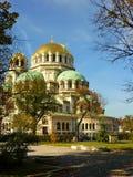 Alexander Nevsky Cathedral, Sofia, Bulgaria. The gleaming golden domes of Alexander Nevsky Cathedral in Sofia Royalty Free Stock Photo