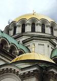 Alexander Nevsky Cathedral in Sofia Bulgaria Europe gold dome de. Alexander Nevsky Cathedral Sofia Bulgaria Europe gold dome detail architectural detail Royalty Free Stock Photography