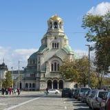 Alexander Nevsky cathedral in Sofia, Bulgaria Stock Photos