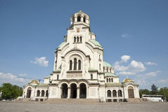 Alexander Nevsky cathedral in Sofia, Bulgaria stock image