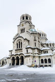 Alexander Nevsky cathedral in Sofia,Bulgaria in the winter Royalty Free Stock Photos