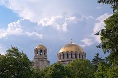 Alexander Nevsky Cathedral, Sofia, Bulgarije Stock Foto's