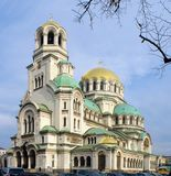 Alexander Nevsky cathedral and square in Sofi Stock Photography