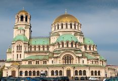 Alexander Nevsky cathedral and square in Sofi Stock Images