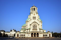 Alexander Nevsky cathedral and square, Sofia Stock Photography