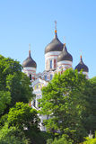 Alexander Nevsky Cathedral in Tallin Stock Image
