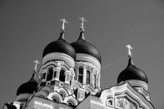 Alexander Nevsky Cathedral in Tallinn stock foto