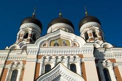 Alexander Nevsky Cathedral, Tallinn. Three domes of Alexander Nevsky Cathedral, Tallinn Royalty Free Stock Image