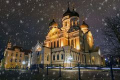 Alexander Nevsky Cathedral in Tallinn stock photography