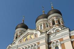Alexander Nevsky Cathedral Tallinn. The Russian Orthodox Alexander Nevsky Cathedral built in 1894–1900. Situated at the Domberg, Tallinn, Estonia Royalty Free Stock Photo