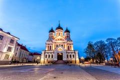 Alexander Nevsky Cathedral, Tallinn royalty-vrije stock foto's