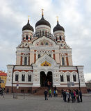 Alexander Nevsky Cathedral of the Tallinn city Royalty Free Stock Photography