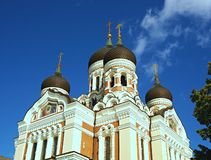Alexander Nevsky Cathedral, Tallinn, Estland stock foto's