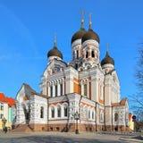 Alexander Nevsky Cathedral in Tallinn, Estland stock foto