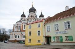 Alexander Nevsky Cathedral a Tallinn, Estonia Immagini Stock Libere da Diritti