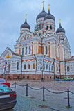 Alexander Nevsky Cathedral in the Toompea hill of Tallinn in Est Stock Photography