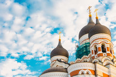 Alexander Nevsky Cathedral, una iglesia ortodoxa de la catedral en Fotos de archivo libres de regalías
