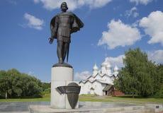 Alexander Nevsky and the Church of Boris and Gleb summer day. Veliky Novgorod Stock Photo