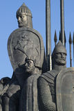 Alexander Nevsky. A fragment of the memorial Battle of the Ice in Pskov oblast Royalty Free Stock Photo