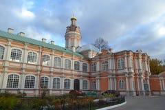 Alexander Nevsky Lavra Arkivbild