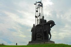 Alexander Nevsky-monument Pskov, Rusland Stock Afbeeldingen