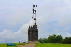 Alexander Nevsky-monument Pskov, Rusland Stock Foto