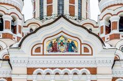Alexander Nevsky Orthodox Cathedral i Tallinn den gamla staden, Est Arkivbilder