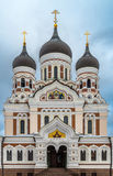 Alexander Nevsky Orthodox Cathedral na cidade velha de Tallinn, Est imagem de stock royalty free