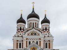 Alexander Nevsky Orthodox Cathedral in the Tallinn Old Town, Est Royalty Free Stock Image