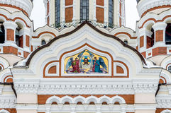 Alexander Nevsky Orthodox Cathedral in the Tallinn Old Town, Est Stock Images