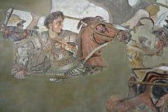 Alexander o grande contra Darius fotos de stock