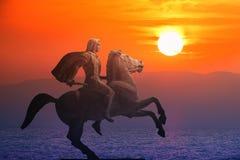 Alexander o grande, rei famoso de Macedon fotos de stock royalty free
