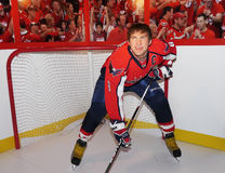 Alexander Ovechkin. Russian professional ice hockey star and one of the premiere players in the National Hockey League (NHL), appears to  pose in his Washington Royalty Free Stock Photos