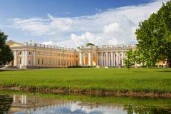 Alexander Palace i Tsarskoye Selo Fotografering för Bildbyråer