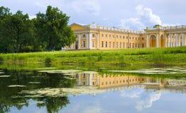 Alexander Palace på Tsarskoye Selo Arkivfoton