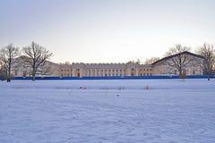 Alexander Palace-restauratie in de winter Pushkin, Tsarskoye Selo, Stock Fotografie