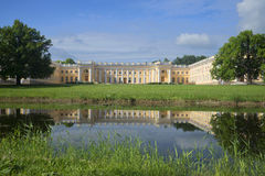 Alexander Palace solig dag i juli Tsarskoye Selo Royaltyfria Bilder