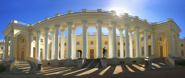 Alexander Palace in Tsarskoye Selo Royalty Free Stock Photos