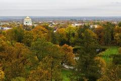Alexander Park dall'altezza del volo dell'uccello in autunno fotografia stock